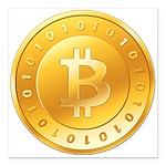 Bitcoins-1 Square Car Magnet 3