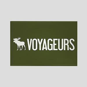 Voyageurs Moose Rectangle Magnet