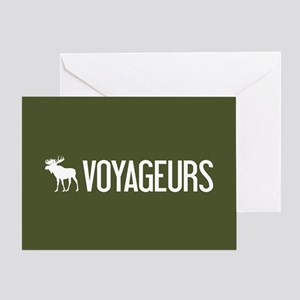 Voyageurs Moose Greeting Card