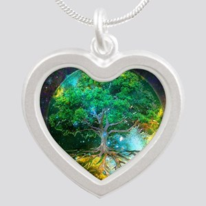 Health Healing Silver Heart Necklace