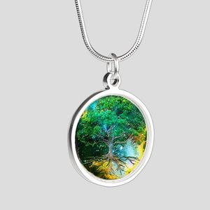 Health Healing Silver Round Necklace