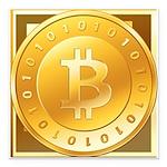 Bitcoins-3 Square Car Magnet 3