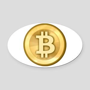 Bitcoins-5 Oval Car Magnet