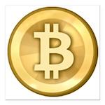 Bitcoins-5 Square Car Magnet 3