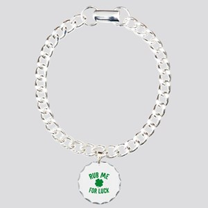 Rub Me For Luck Charm Bracelet, One Charm