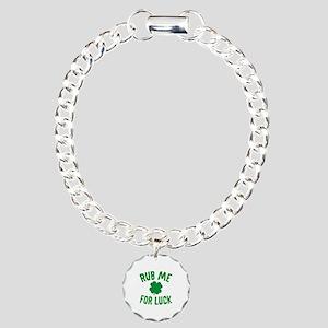 Rub Me For Luck Charm Bracelet, One Charm