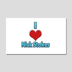 I heart Nick Stokes Car Magnet 20 x 12