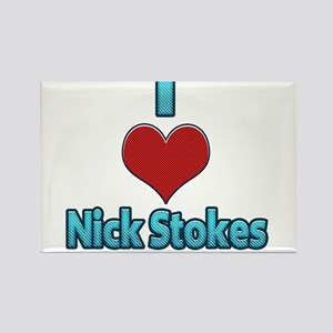 I heart Nick Stokes Rectangle Magnet