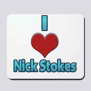 I heart Nick Stokes Mousepad