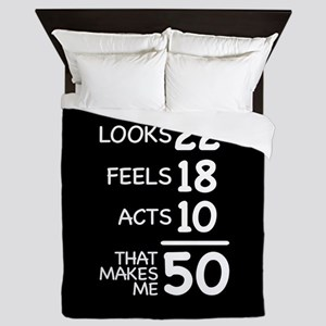 That Makes Me 50 Queen Duvet