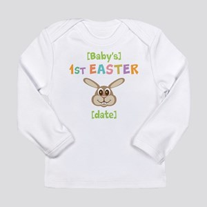 PERSONALIZE 1st Easter Bunny Long Sleeve Infant T-