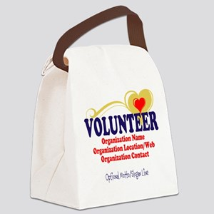 Volunteer For Life Canvas Lunch Bag