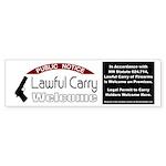 Lawful Carry Welcome (window sticker) Bumper Stick