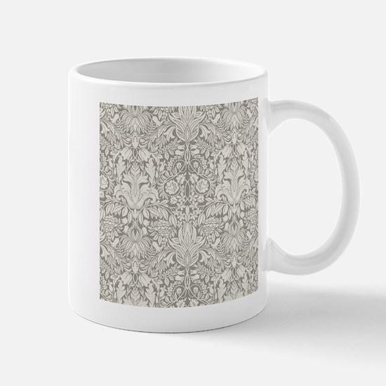 White Damask Mug