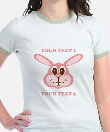 PERSONALIZE Pink Bunny T