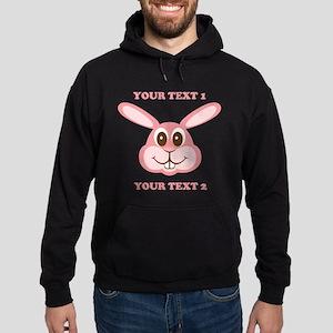 PERSONALIZE Pink Bunny Hoodie (dark)