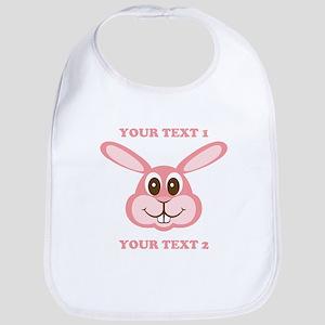 PERSONALIZE Pink Bunny Bib