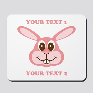 PERSONALIZE Pink Bunny Mousepad