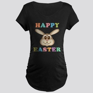 Happy Easter Bunny Maternity Dark T-Shirt