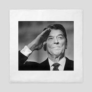 Ronald Reagan Patriotic Salute Queen Duvet