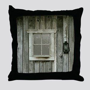 Old wood cabin Throw Pillow