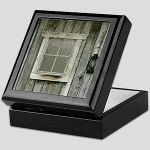 Old wood cabin Keepsake Box