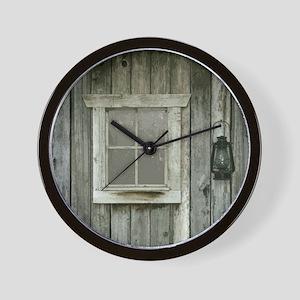 Old wood cabin Wall Clock