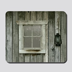 Old wood cabin Mousepad