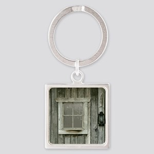 Old wood cabin Square Keychain