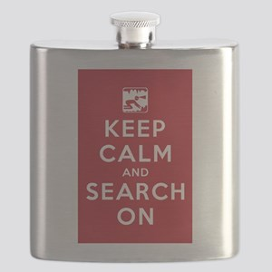 Keep Calm and Search On (Cave Rescue) Flask