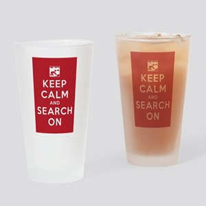 Keep Calm and Search On (Cave Rescue) Drinking Gla