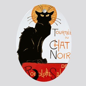 Tournee du Chat Steinlen Black Cat Ornament (Oval)