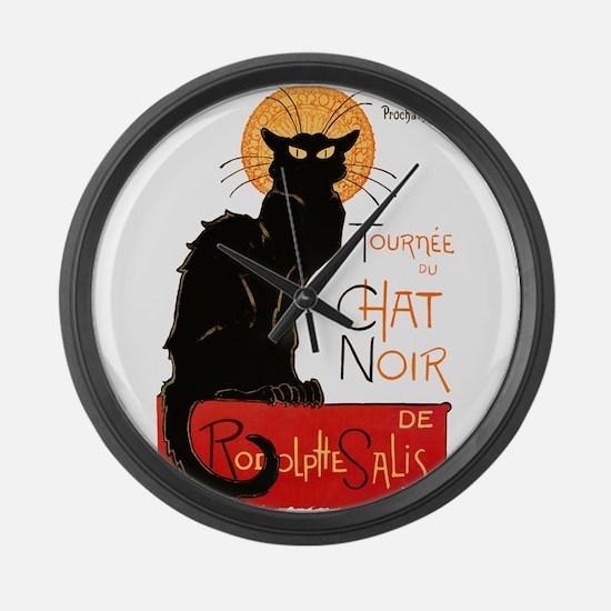 Tournee du Chat Steinlen Black Cat Large Wall Cloc