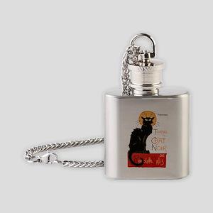 Tournee du Chat Steinlen Black Cat Flask Necklace
