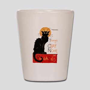 Tournee du Chat Steinlen Black Cat Shot Glass