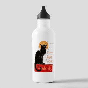 Tournee du Chat Steinlen Black Cat Water Bottle