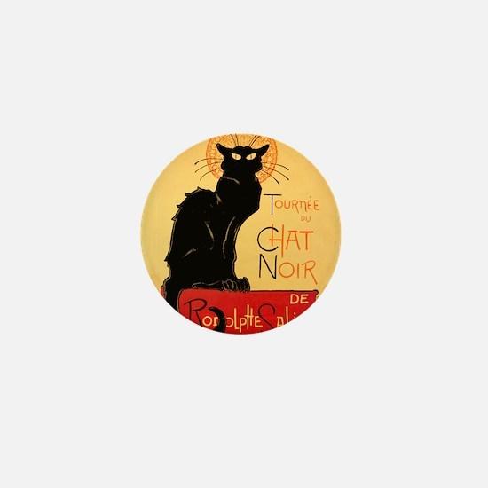 Famous black cat French Mini Button