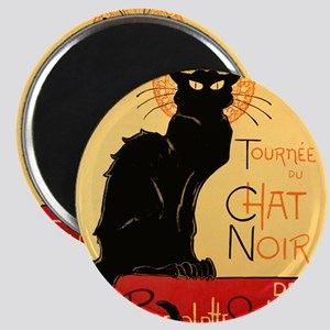 Famous black cat French Magnet