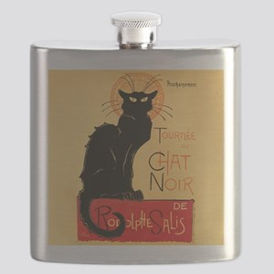 Famous black cat French Flask