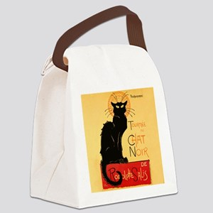 Famous black cat French Canvas Lunch Bag
