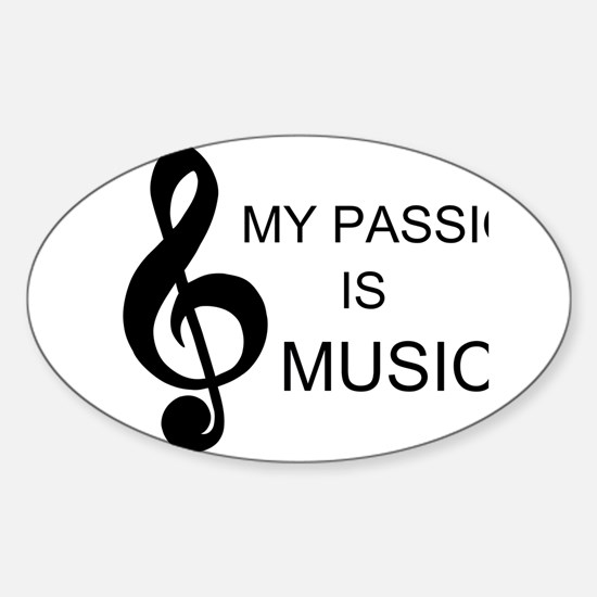 My Passion Is Music Decal