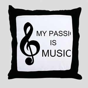 My Passion Is Music Throw Pillow
