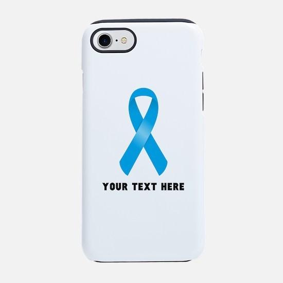 Light Blue Awareness Ribbon iPhone 7 Tough Case