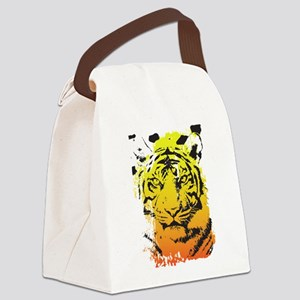 Tiger Canvas Lunch Bag