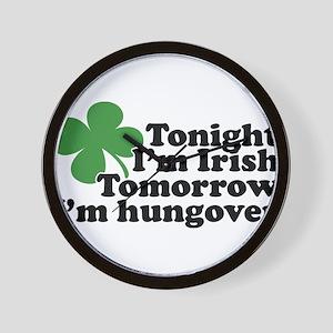 Tonight Im Irish Wall Clock