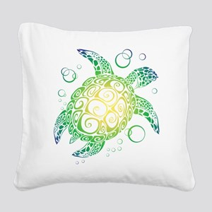 Sea Turtle Square Canvas Pillow