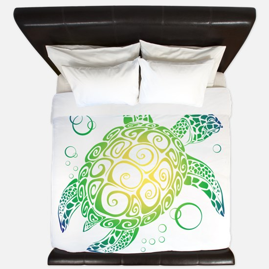 Sea Turtle King Duvet
