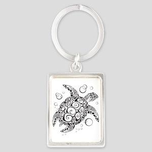 Sea Turtle Portrait Keychain