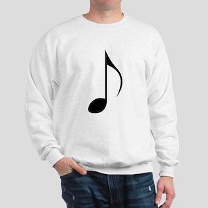 Black Eighth Note Sweatshirt