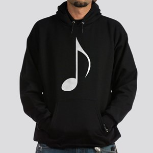 White Eighth Note Hoodie